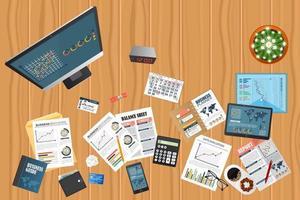concept de bureau d'audit vecteur