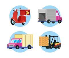 jeu d'icônes de service de livraison