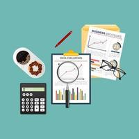 conception de planification d'entreprise vecteur