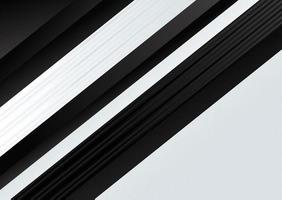 texture de rayures diagonales noir et blanc moderne vecteur