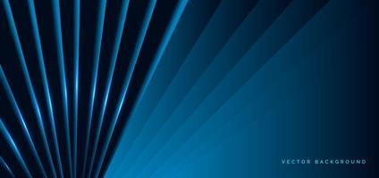 formes diagonales bleu foncé avec effet de lumière bleue vecteur