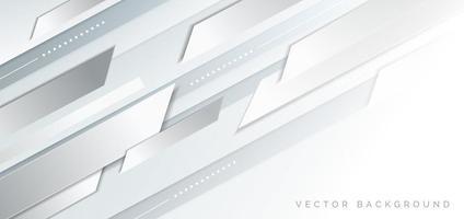 design géométrique futuriste gris et blanc vecteur