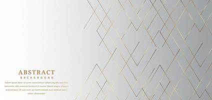 lignes dorées coudées abstraites sur dégradé gris vecteur