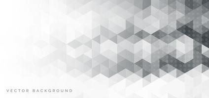 bannière superposée abstraite hexagone géométrique blanc et gris