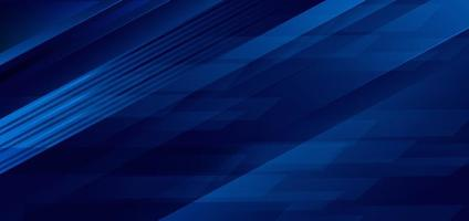 fond de chevauchement géométrique rayures bleu foncé vecteur