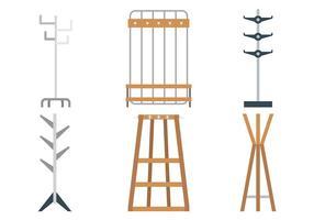 Manteau icônes vectorielles stand