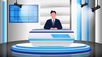 scène de programme de nouvelles