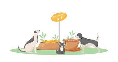 café amical pour chiens