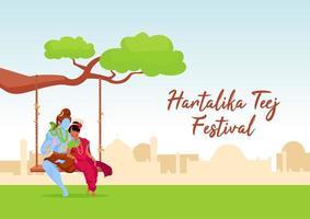 affiche du festival hartalika teej