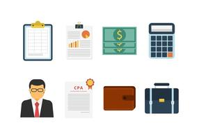 Icônes vectorielles comptable gratuit vecteur