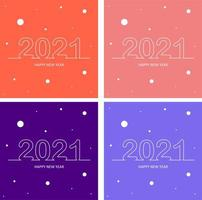 arrière-plans du nouvel an du texte 2021 vecteur