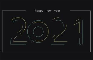 Texte de style néon 2021 vecteur