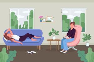 soin de la santé mentale vecteur