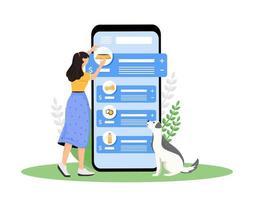 écran de l'application smartphone dog shop vecteur