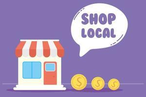 campagne de magasinage local avec bâtiment de magasin