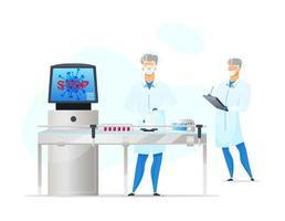 scène de travailleurs de laboratoire vecteur