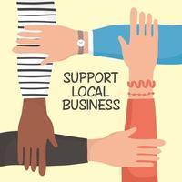 soutenir la campagne commerciale locale avec des mains humaines