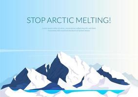 arrêter la bannière de fonte arctique