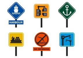 Vecteur de signe de port