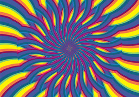 Illusion d'hypnose psychédélique abstraite vecteur