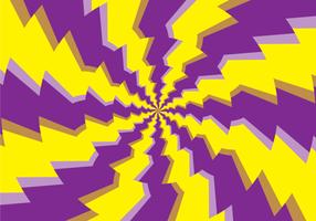 Illusion d'hypnose ronde psychédélique vecteur