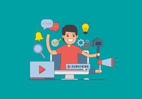 Free Video Creator Illustration Vecteur