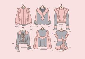 Frilly vêtements vecteur