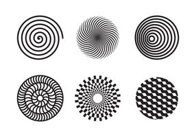 Vecteur de motif d'hypnose