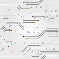 ligne motif numérique coloré