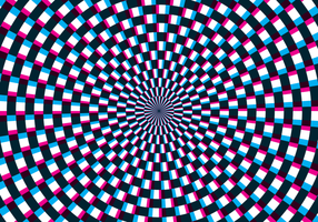 Illusion d'optique d'hypnose