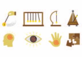 Ensemble d'icônes de l'hypnose vecteur