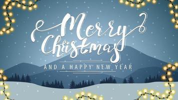joyeux noël et bonne année carte postale