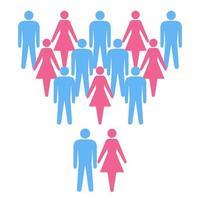 schéma conceptuel de la famille et de la société
