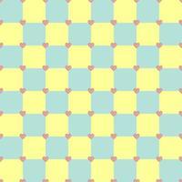 motif de coeur de couleur jaune et turquoise vecteur