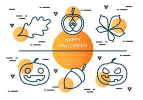 Icônes vectorielles linéaire gratuite d'Halloween
