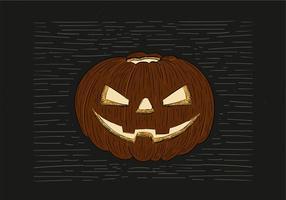 Illustration Halloween dessiné à la main libre