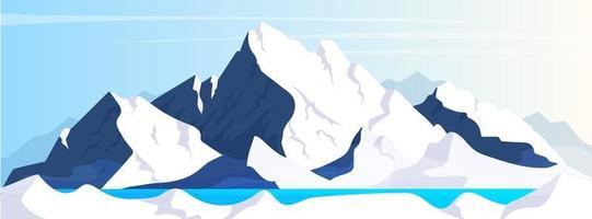 bannière plate de montagne
