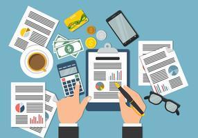 CPA comptable élément Illustration Vecteur