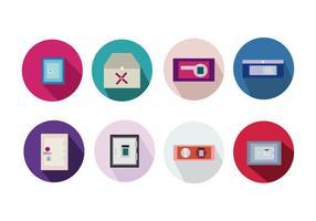 vecteur d'icônes strongbox