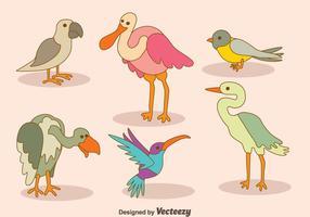Vecteur de collection d'oiseaux de bande dessinée
