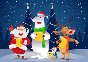 Vecteur de Carolers de Noël
