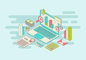 Illustration vectorielle comptable gratuit vecteur