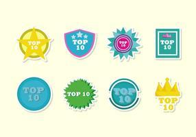 Top 10 des vecteurs de badges