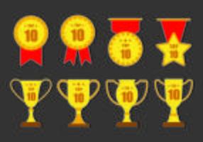 TOP 10 badges vectoriels