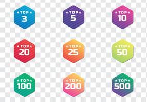 Badges Top Top modernes vecteur