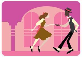 Tap Couple de danse vecteur