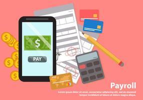 Vecteur de paiement de paie vecteur