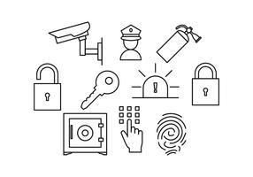 Vecteur de l'icône de la ligne de sécurité gratuit