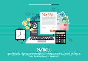 Illustration vectorielle de la paie