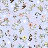 Doodle motif de fleurs fleurs délicates